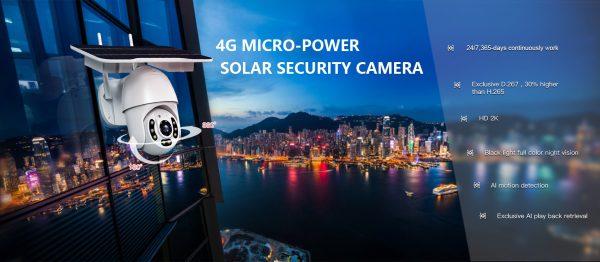 4G Wireless Micropower Solar Camera TY738